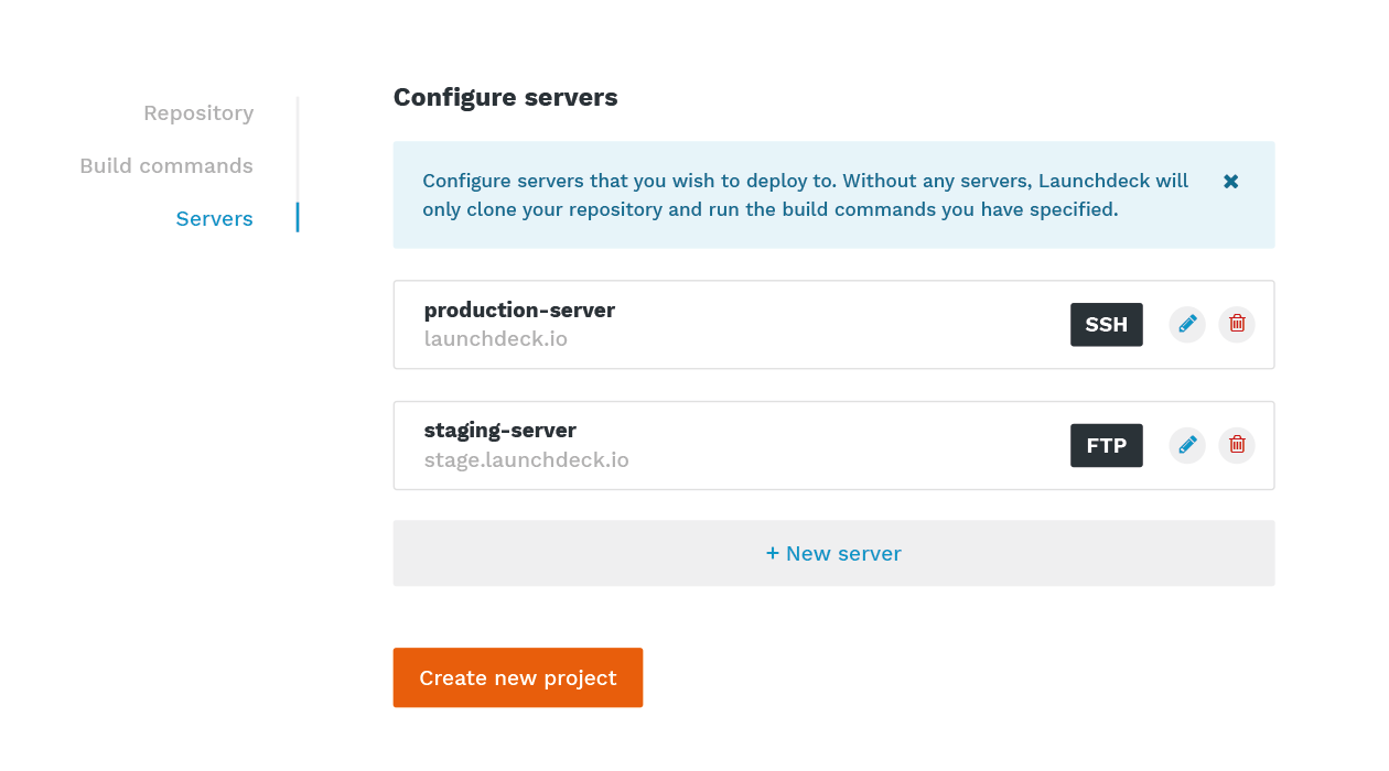Build and deploy React applications from Git to your servers