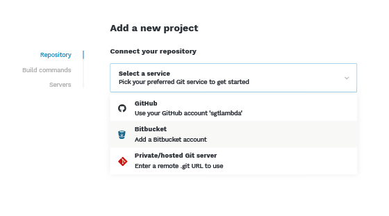 Deploy from git to server